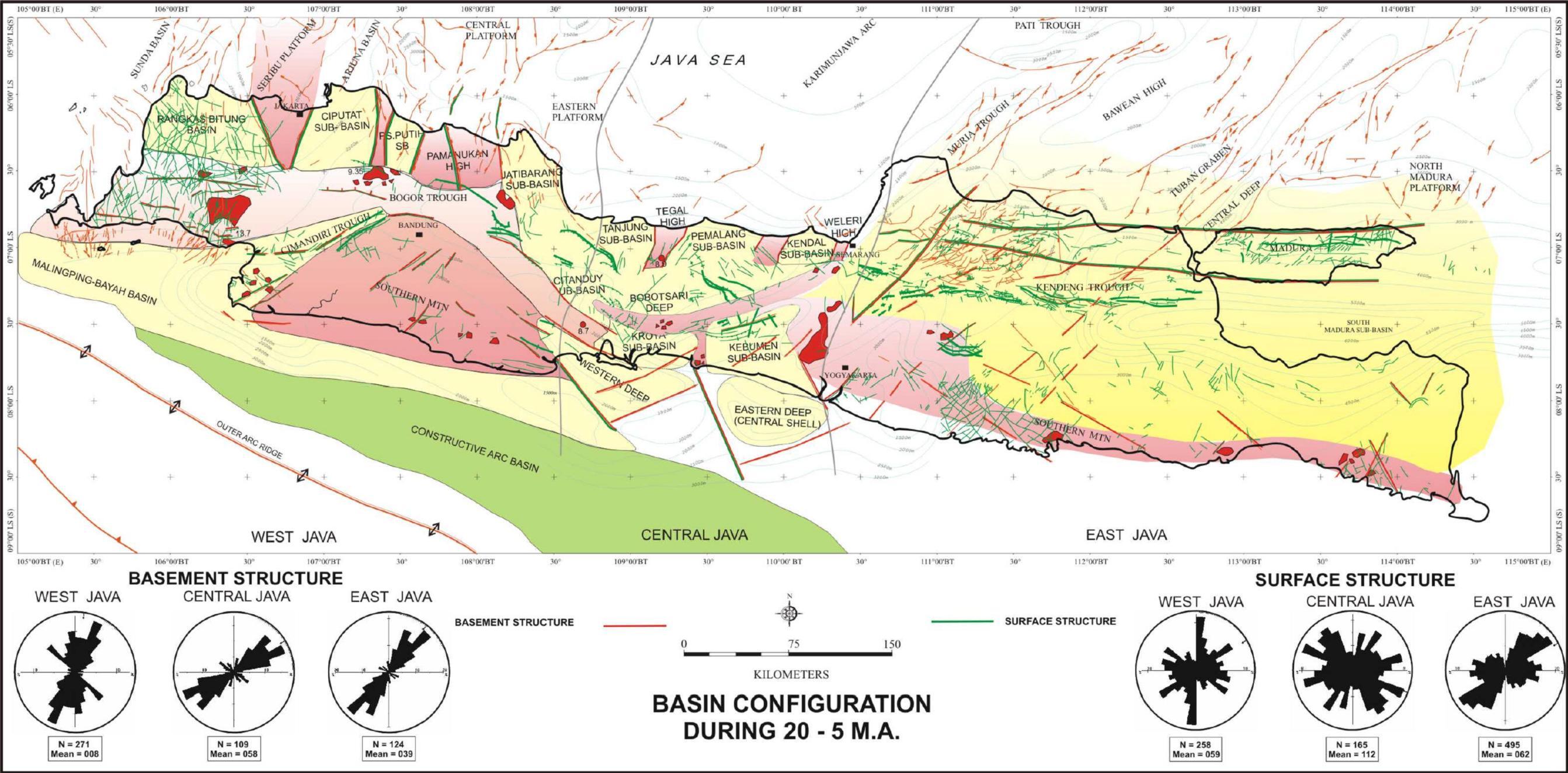 Patahan Yg Membelah Pulau Jawa Dongeng Geologi Gambar Sketsa Peta