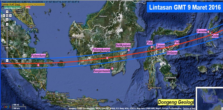 Animasi Gerhana Matahari Total 22 Juli 2009 Dongeng Geologi