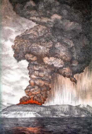 Lukisan letusan 1883
