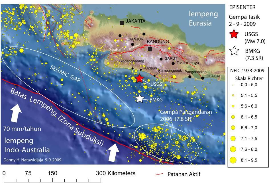jawa barat selatan harus tetap waspada dongeng geologi