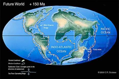 Bagaimana membuat model bumi masa depan  Wajah Bumi Benua Masa Depan