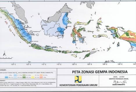 Peta Zonasi Gempa, bukan peta rawan gempa