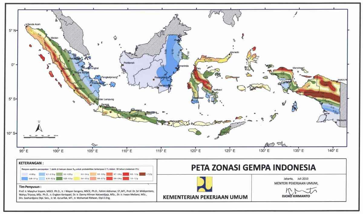 Image result for sistem zonasi gempa bumi
