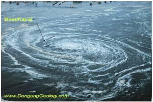 <b>Pusaran Raksasa </B>Akibat Tsunami Jepang 2011