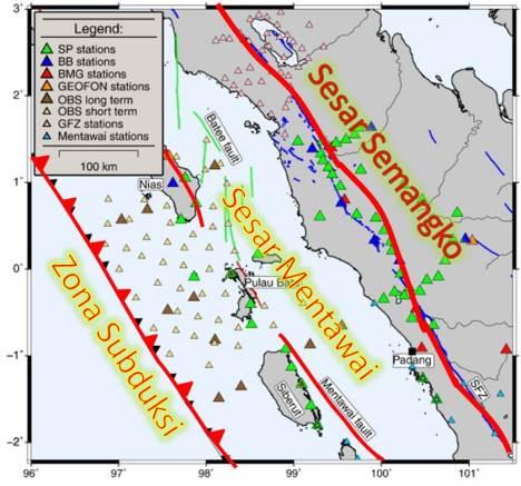 Tiga Zona Gempa. Masih terus diteliti dan menjadi obyek riset