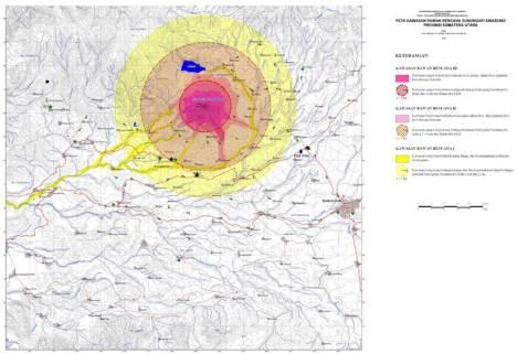 Peta PRB Sinabung