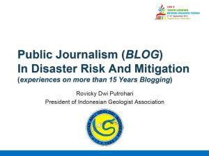 PublicJournalismBlogDisaster